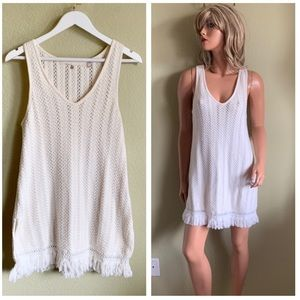 Anthropologie Knitted & Knotted Crochet Dress